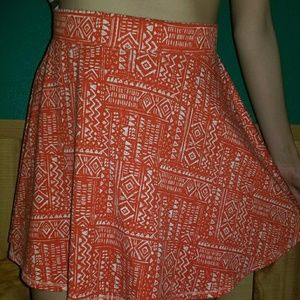 Aztec pattern red skirt!